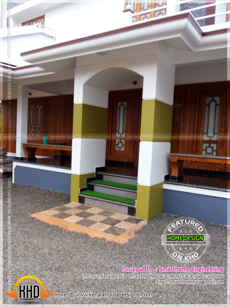 kerala home design veranda contemporary kerala mix house at malapuram kerala home. beautiful ideas. Home Design Ideas