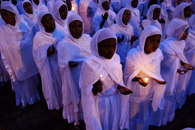 Photograph of Meskel Ceremony in Addis Ababa, Ethiopia by Ethiopian photographer Michael Tsegaye