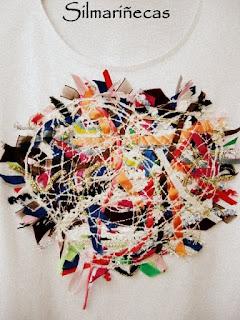 """Como hacer una camiseta con aplique """"crazy wool""""-"""