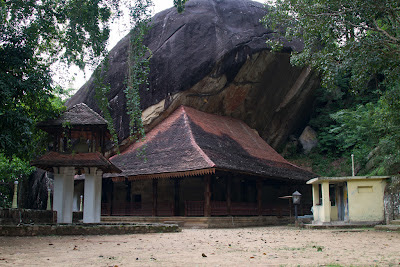 A photograph of the Hindagala temple in Kandy, Sri Lanka