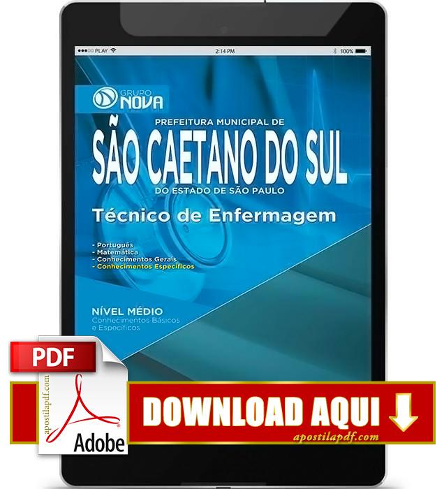 Apostila Prefeitura de São Caetano Técnico de Enfermagem PDF Download