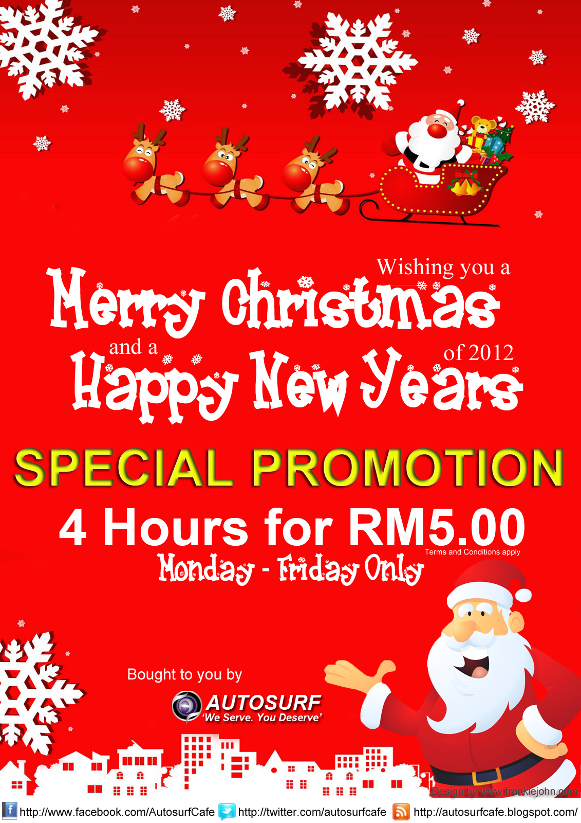 promotion   merry christmas and new years 2013
