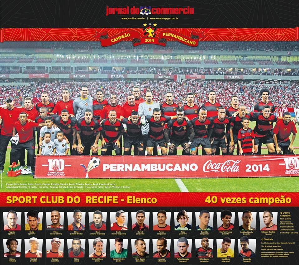 Pôster: Sport Campeão Pernambucano de 2014