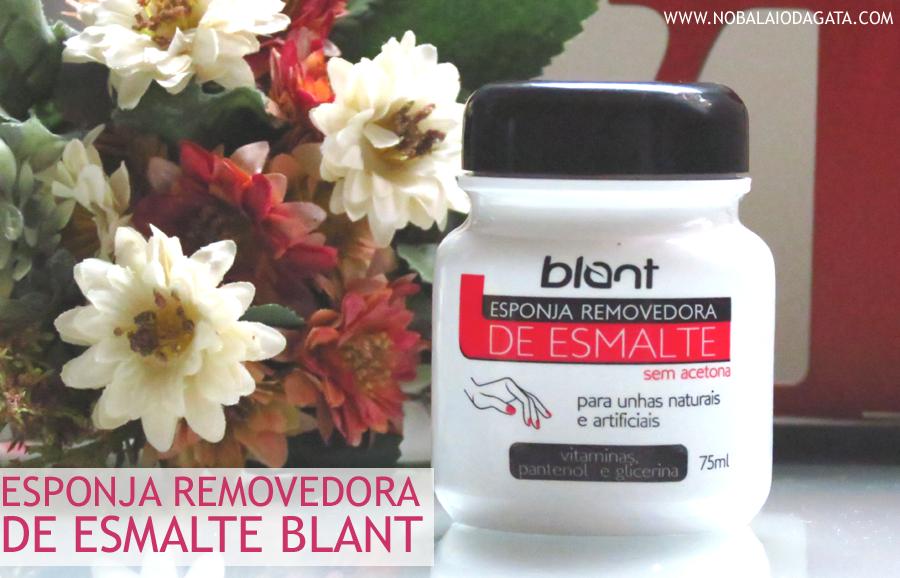 Esponja Removedora de Esmalte Blant | Blog No Balaio da Gata