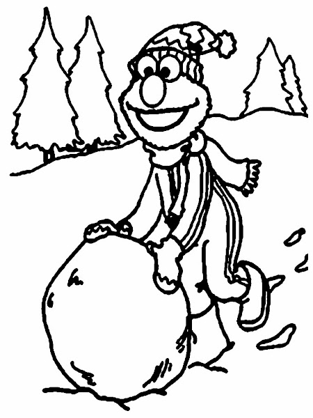Baby Elmo Printable Coloring Pages