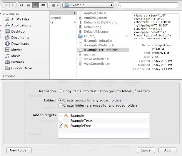 Add Info.plist to Project