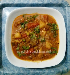 Easy Mixed vegetable curry recipe