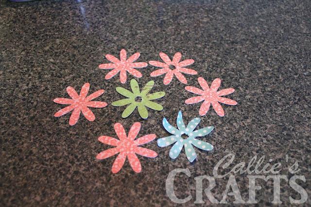 flowers cut with cricut