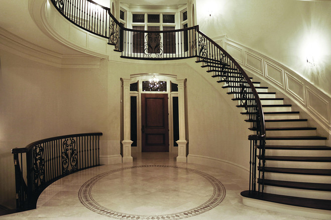 New home designs latest luxury home interiors stairs for Latest home interior designs images