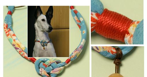 Zona de manualidades collar en tela para mascotas for Como hacer un collar para perro