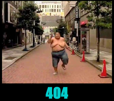 the 404 page