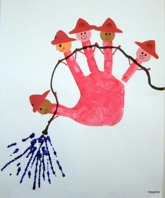 Tippytoe crafts five little firefighters for Craft paint safe for babies