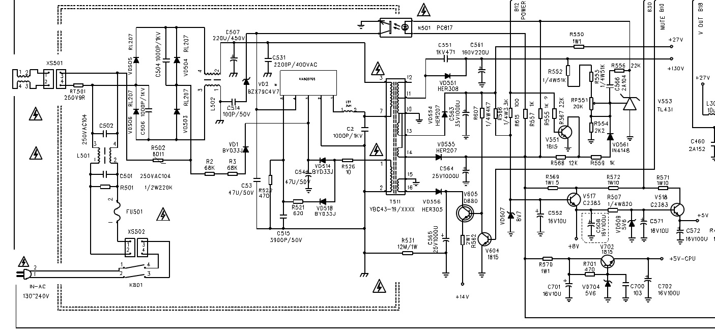 Colour TV Circuit Diagram - TMPA8873KPANG6HV9 - syscon-chroma IC ...