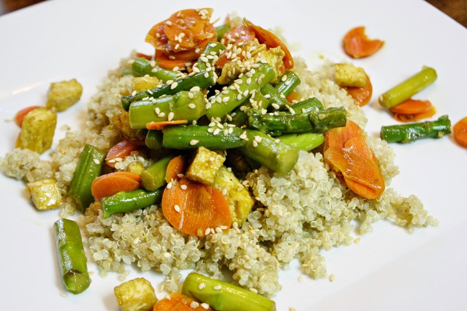 http://eatprayjuice.blogspot.com/2014/07/tofu-with-asparagus-and-quinoa.html