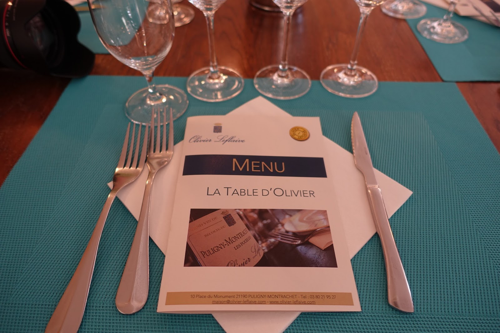 Schiller wine lunch and winetasting at la table de - La table d olivier leflaive puligny montrachet ...