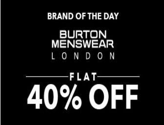 Jabong: Get Flat 40% off on Burton London Clothing and Footwear starts at Rs. 672