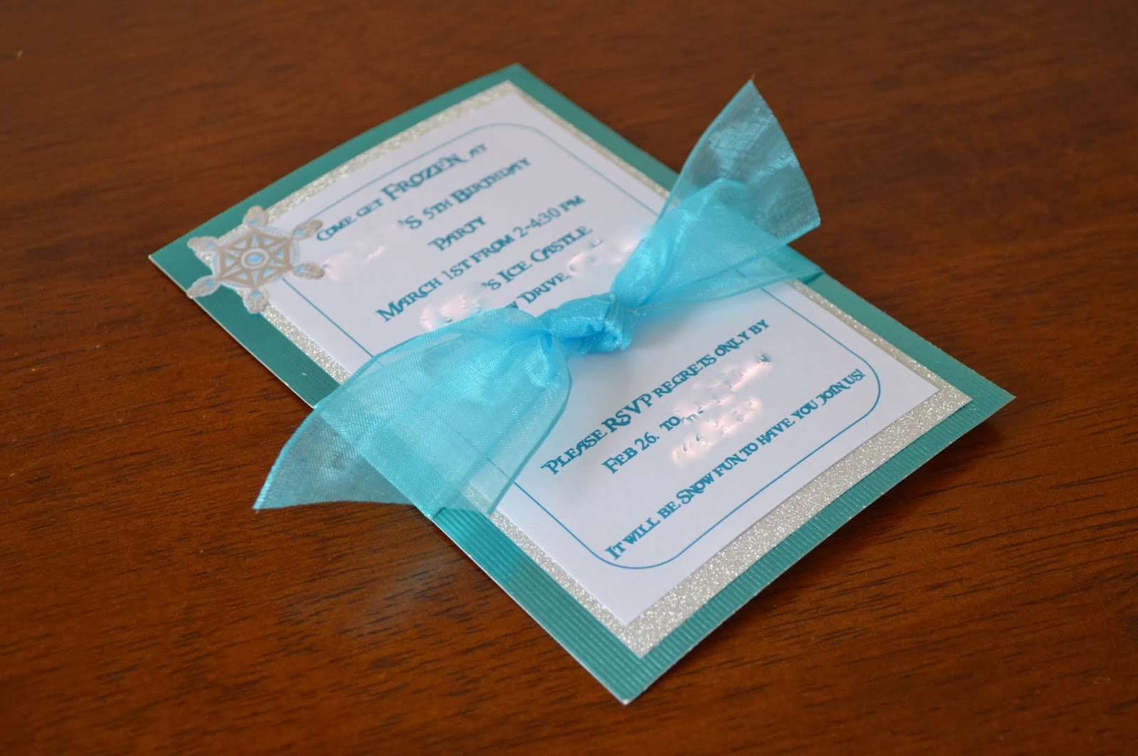 Frozen Homemade Birthday Invitations