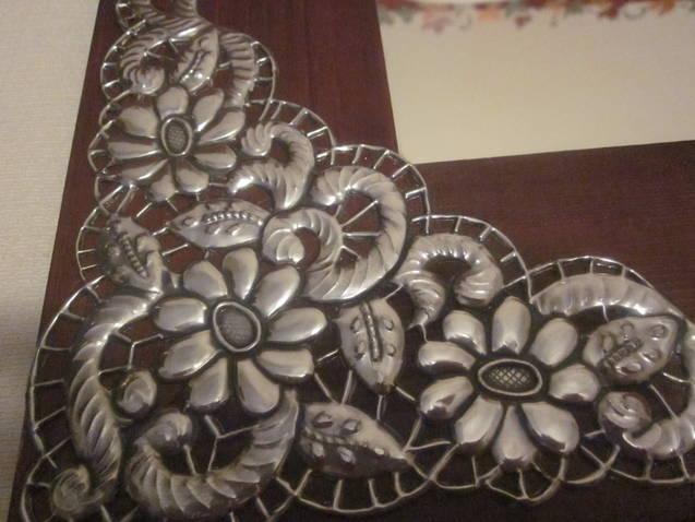 El rinc n de las manualidades de tere espejos decorados for Manualidades con estano