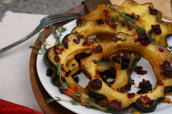 Maple-Glazed Acorn Squash w/ Dried Cranberries {12 Weeks of Winter Squash}