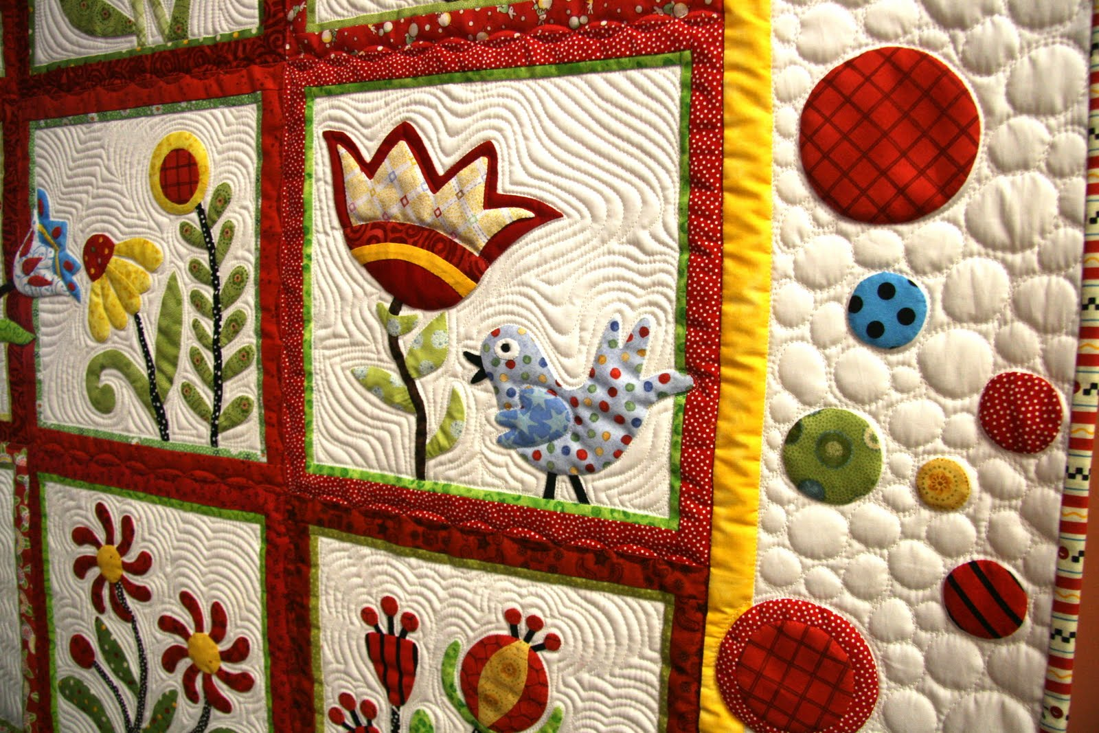 lindas quiltmania  whimsical quilt garden
