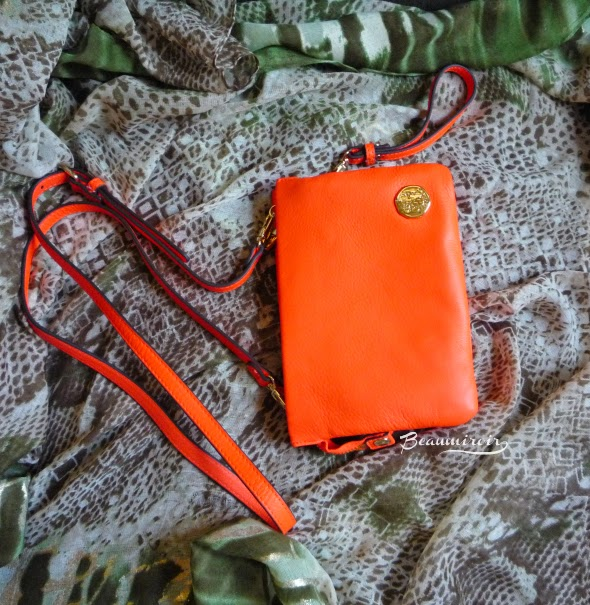 Vince Camuto Cami Cross Body handbag in Fiery Coral purse