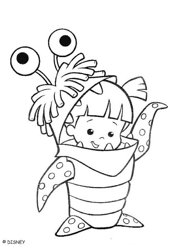 Monsters and Girls Coloring Pages title=
