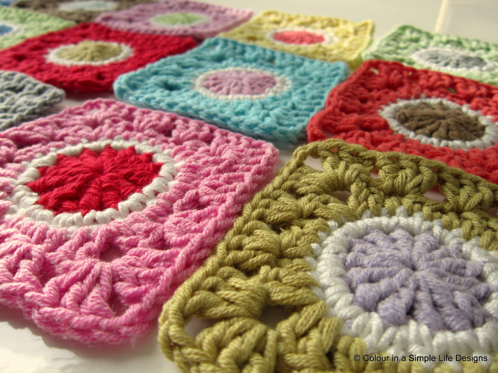 Crocheting Uk : ... ://www.etsy.com/listing/109617763/grannys-gone-dotty-square-crochet