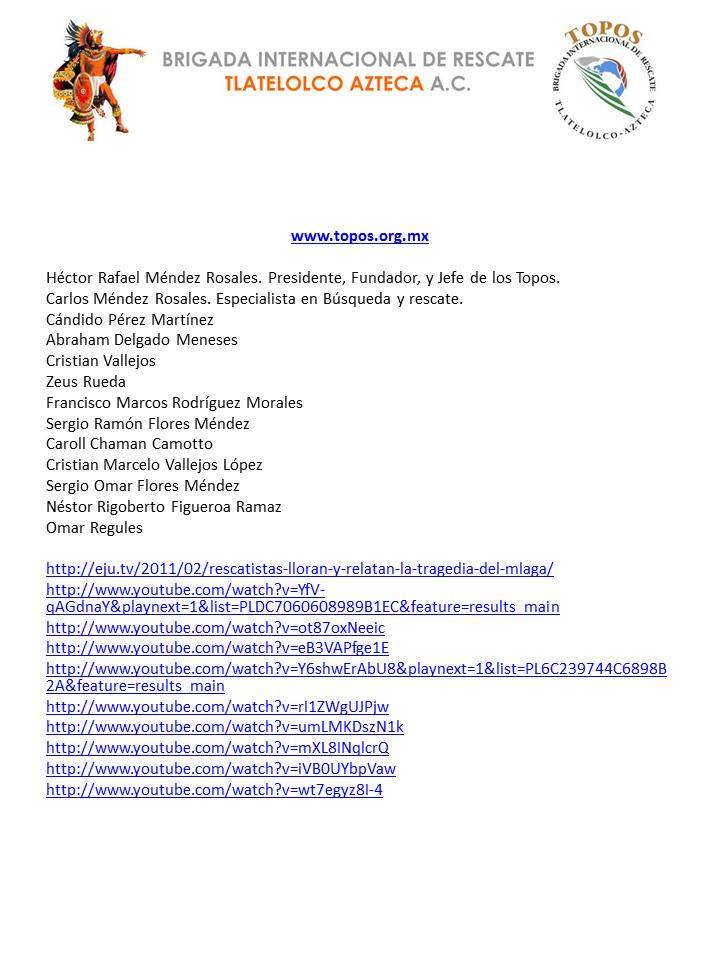 EMS SOLUTIONS INTERNATIONAL: TOPOS Brigada Internacional de ...