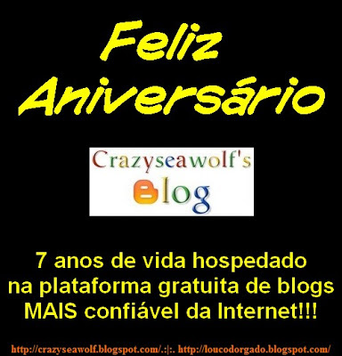 Feliz aniversário, Crazyseawolf's Blog!