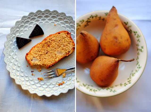 pear cake with spelt flour and almond meal