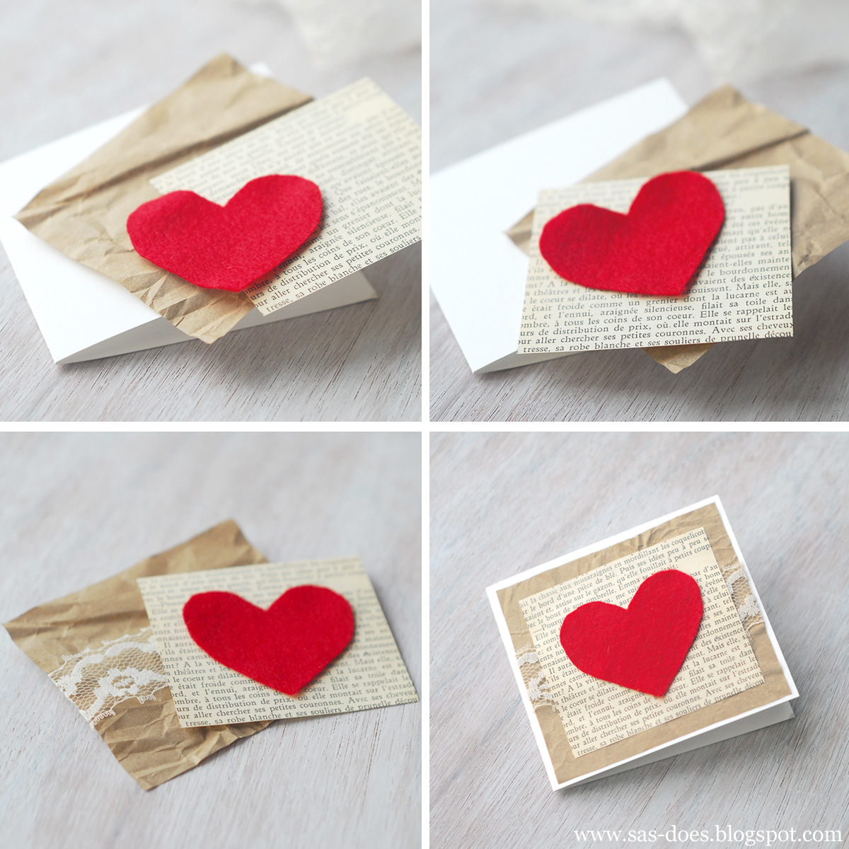 FELT VALENTINES DAY CARD – Small Valentine Cards