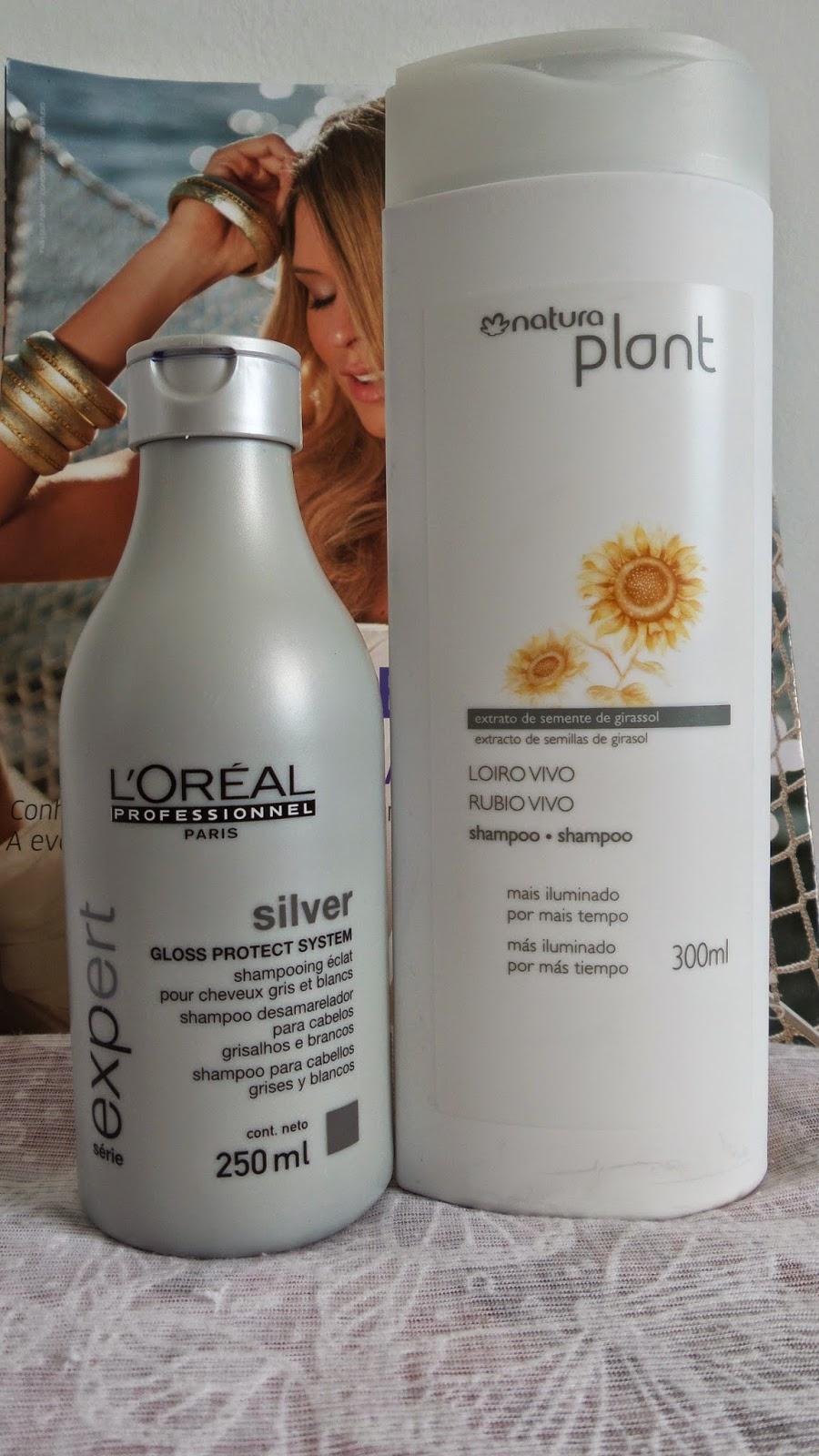 Shampoo Silver L'Oréal Professionnel e Loiro Vivo Natura Plant.