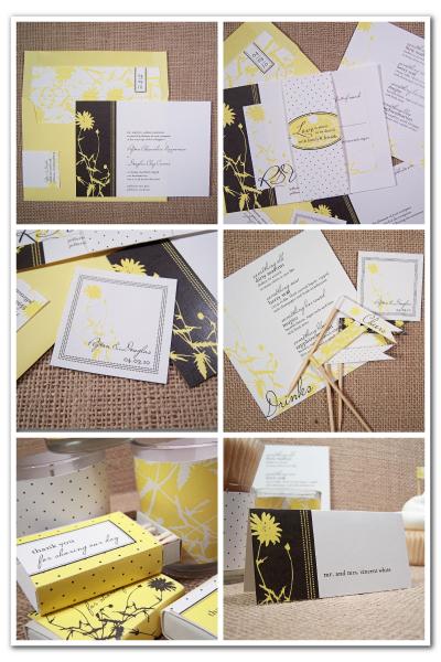 vintage botanical wedding invitation stationery suite printable diy