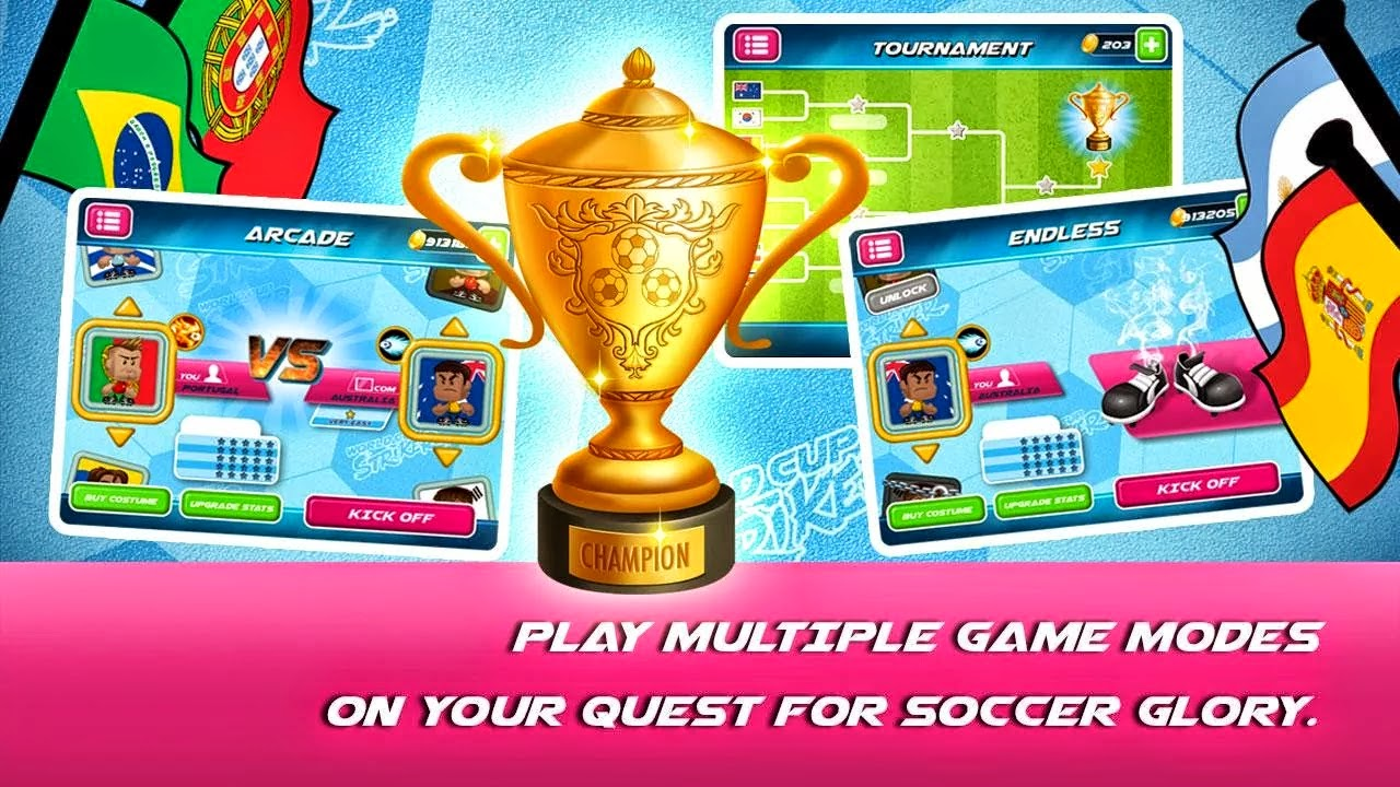 World Soccer Striker 2014 v2.2 Mod [Unlimited Money]