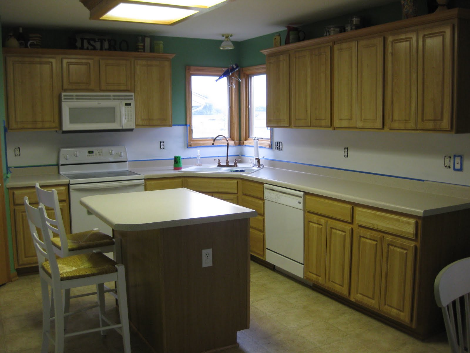 Kitchen… L Shaped Honey Oak Cabinets Unfortunate Lack Of. Full resolution  photo, nominally Width 1600 Height 1200 pixels, photo with #5D4C24.