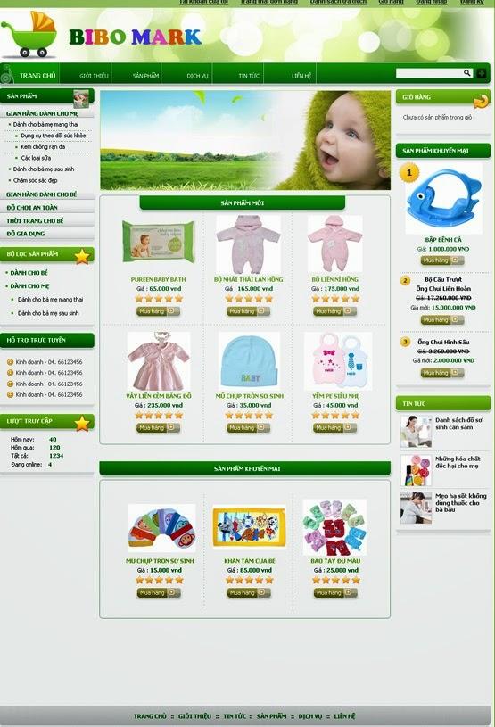 dịch vụ thiết kế website bán hàng quần áo