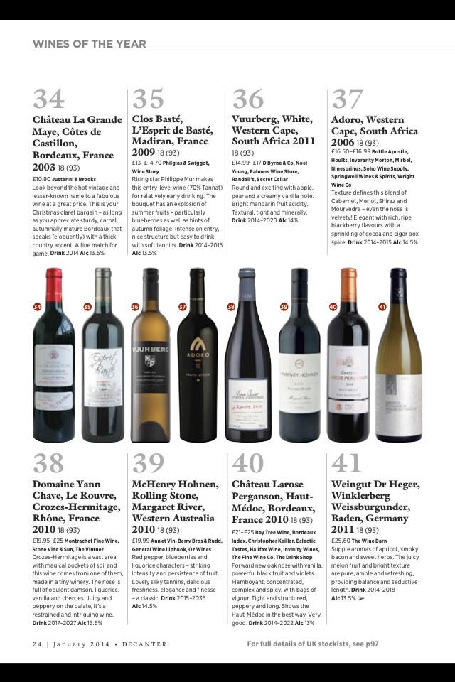 decanter top 50 wines of the year 2013 conhe a os melhores vinhos de 2013 vinhos e mais vinhos. Black Bedroom Furniture Sets. Home Design Ideas