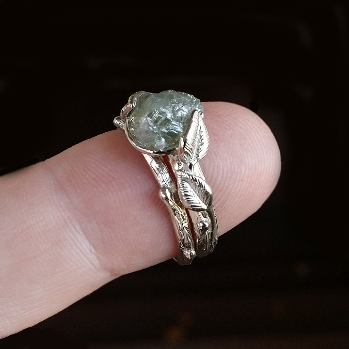 Dawn Vertrees Raw Uncut Rough Engagement Wedding Rings ...