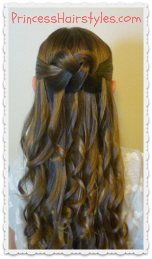 Hairstyles For Long Hair Knots : ... Knot - Half Up Hairstyle Hairstyles For Girls - Princess Hairstyles