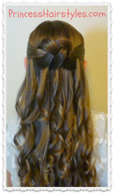 Prom Hairstyle, Woven Knot Half Updo