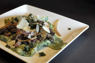 Recipe: Spinach pappardelle with sage mushroom sauce