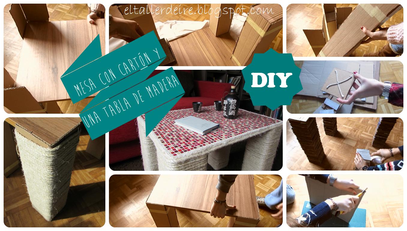 C mo hacer una mesa con cart n y una tabla de madera el - Mesas de carton ...