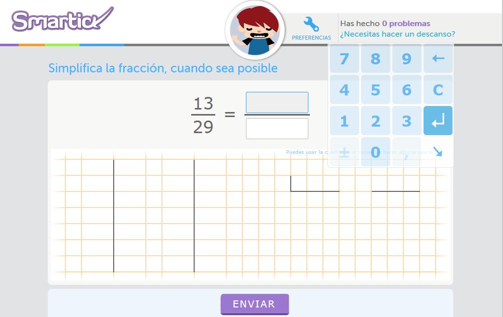 http://www.smartick.es/presentacionProblema!doEjercicioAnonimo.html?recursosDidacticosId=simplificar-Fracciones-I