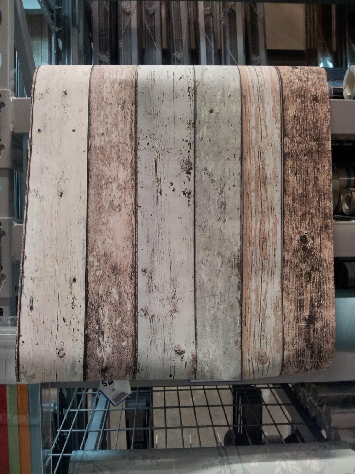 Jarrah Jungle For The Laundry Blue Wash Wood Wallpaper