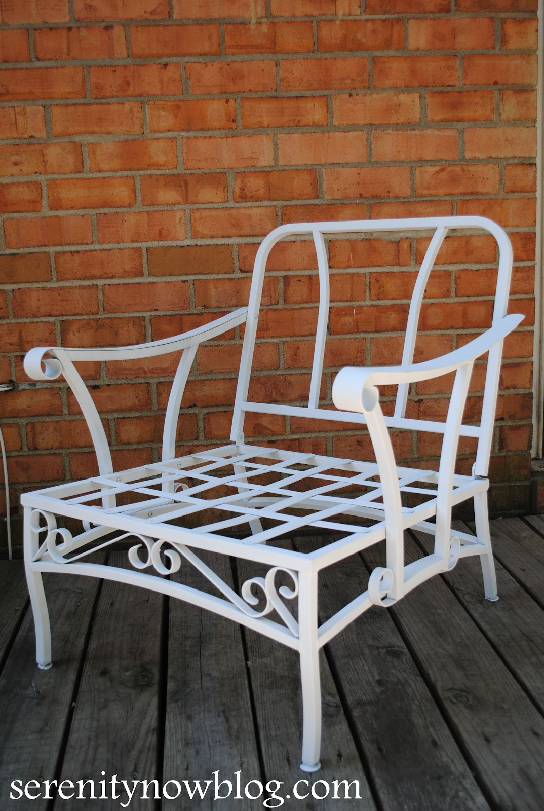 Serenity Now How To Clean And Paint Vintage Metal Patio Furniture