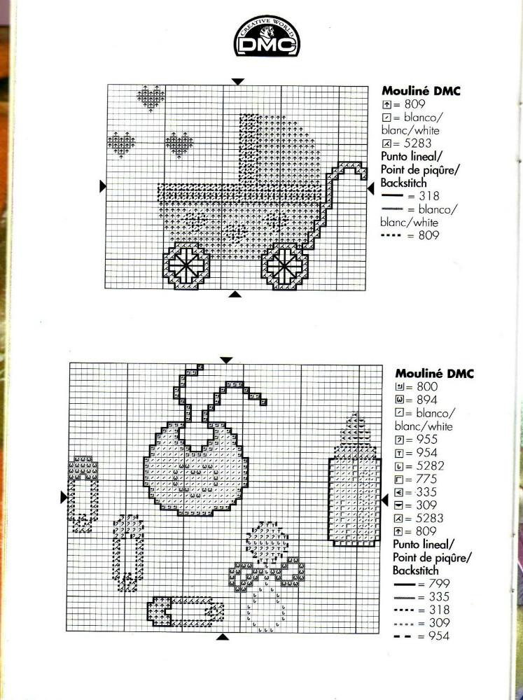 Grande raccolta di schemi e grafici per punto croce free for Schemi uncinetto bavaglini free
