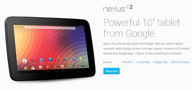 Google NEXUS 10 Release Date, 2nd generation Specs and Price