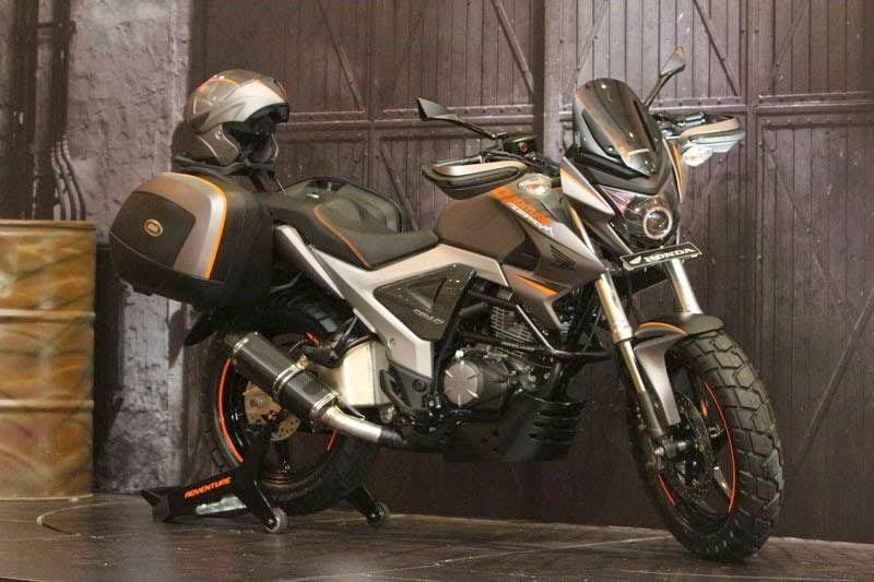 modifikasi motor honda megapro touring