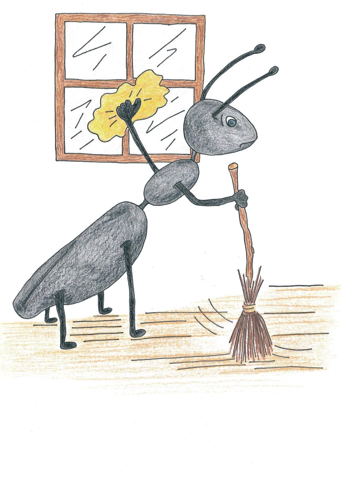 Au rythme de mes crayons et pinceaux mai 2011 - Illustration la cigale et la fourmi ...
