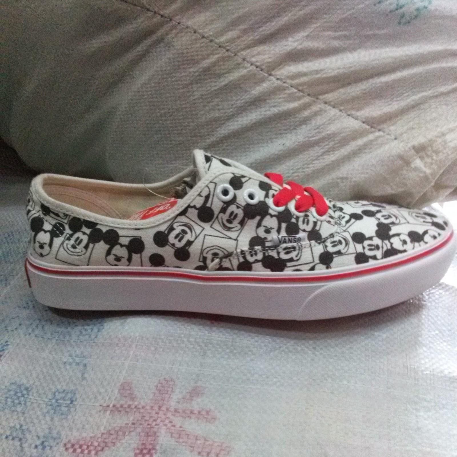 sepatu vans motif donal bebek micky mouse spiderman dan marvel